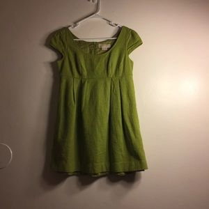 Michael Kors Lime Green Babydoll Dress
